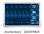 heart rate monitoring device 3d ... | Shutterstock . vector #260359805