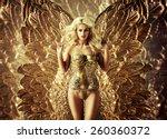 beautiful young woman | Shutterstock . vector #260360372