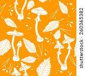 mushrooms graphic design on... | Shutterstock .eps vector #260365382