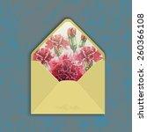 invitation envelope with...   Shutterstock .eps vector #260366108