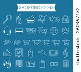 set of on line shopping icons....