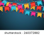 celebrate banner. party flags... | Shutterstock .eps vector #260372882