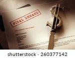 final demand notice concept for ... | Shutterstock . vector #260377142