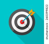 target flat icon with long... | Shutterstock .eps vector #260399822