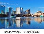 orlando lake eola in the... | Shutterstock . vector #260401532
