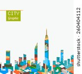 city landscape with colorful... | Shutterstock .eps vector #260404112