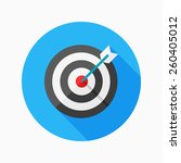 target flat icon with long... | Shutterstock .eps vector #260405012