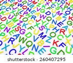 letters of the english alphabet.... | Shutterstock . vector #260407295
