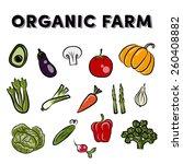 organic farm vector concept | Shutterstock .eps vector #260408882