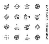 target icons set. | Shutterstock .eps vector #260411645