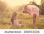young couple in love having fun ... | Shutterstock . vector #260413226
