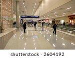 passengers in modern airport ... | Shutterstock . vector #2604192