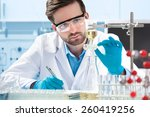 scientist working at the... | Shutterstock . vector #260419256