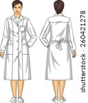 dressing gown for the woman... | Shutterstock .eps vector #260421278