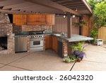 outdoor modern kitchen that has ... | Shutterstock . vector #26042320