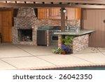 outdoor modern kitchen that has ... | Shutterstock . vector #26042350
