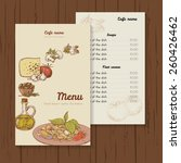 restaurant or cafe menu vector... | Shutterstock .eps vector #260426462