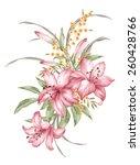 watercolor illustration bouquet ... | Shutterstock . vector #260428766