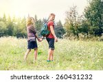 young couple on the walk in... | Shutterstock . vector #260431232