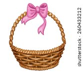 illustration of wicker basket... | Shutterstock .eps vector #260433212