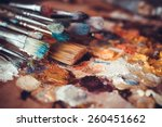 Paintbrushes Closeup  Artist...