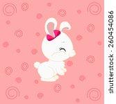 cartoon bunny girl  | Shutterstock .eps vector #260454086