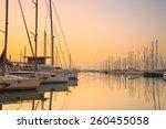 sunset in alimos marina in...