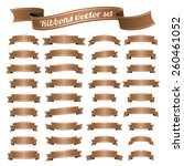 vector set of banners ribbons | Shutterstock .eps vector #260461052