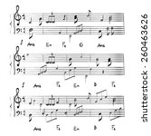 music notes texture vector | Shutterstock .eps vector #260463626