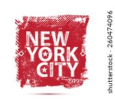 college new york typography  t... | Shutterstock .eps vector #260474096