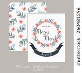 wedding invitation template... | Shutterstock .eps vector #260481296
