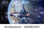 alien mothership near earth ... | Shutterstock . vector #260482442