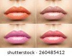 Beautiful Glossy Lips Nude...