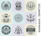 assorted retro design insignias ... | Shutterstock .eps vector #260487152