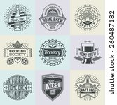 assorted retro design insignias ... | Shutterstock .eps vector #260487182
