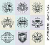 assorted retro design insignias ... | Shutterstock .eps vector #260487182