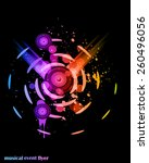 disco club flayer with colorful ... | Shutterstock . vector #260496056