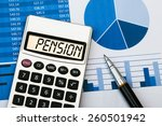 pension concept displayed on... | Shutterstock . vector #260501942