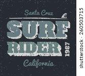 surf rider typography vintage... | Shutterstock .eps vector #260503715