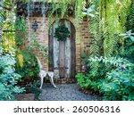 beautiful old front doorway...   Shutterstock . vector #260506316