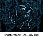 human geometry series. artistic ...   Shutterstock . vector #260507108