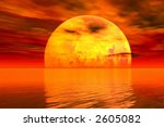dark sunset | Shutterstock . vector #2605082