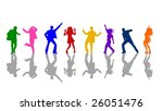 colorful dancing people | Shutterstock . vector #26051476