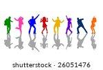 colorful dancing people | Shutterstock . vector #26051476