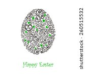 easter card with egg. vector... | Shutterstock .eps vector #260515532