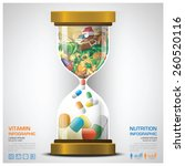 vitamin and nutrition food with ... | Shutterstock .eps vector #260520116