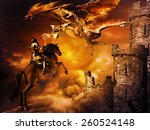 Fantasy Scene With Castle And ...