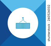 crane   container icon on blue... | Shutterstock .eps vector #260526032