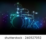 elegant illustration of drum... | Shutterstock .eps vector #260527052