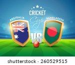 australia vs bangladesh cricket ... | Shutterstock .eps vector #260529515